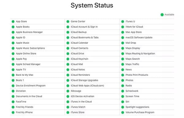 Perform a System Status Check to Fix iPhone 12 Unable to Activate