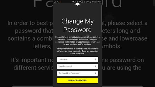 Recover password without email if you forgot Snapchat username