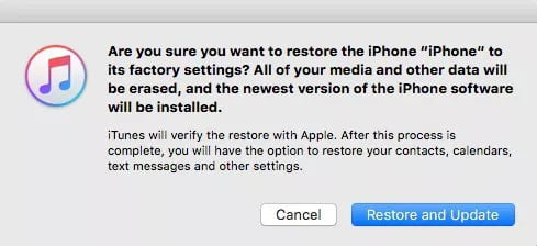 Use iTunes for Unlocking the Device