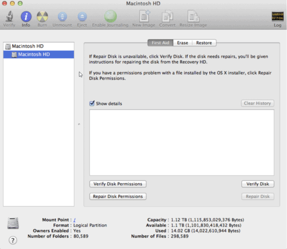 Run Disk Utility In Recovery Mode to Resolve Mac stuck on Apple logo