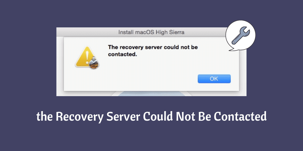 the Recovery Server Could Not Be Contacted