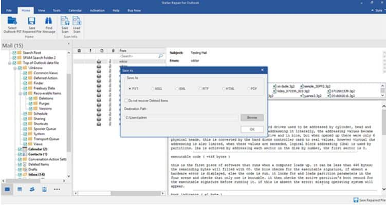Fix the Outlook Invalid XML Using Stellar Repair for Outlook