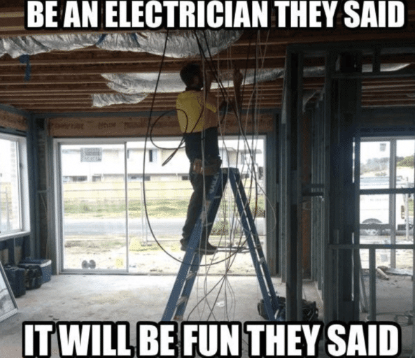 This is how a normal day of an electrician's life is spent