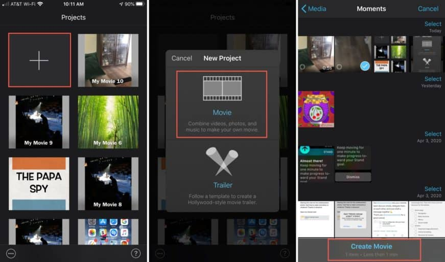 how to slow down a video on iPhone Using iMovie