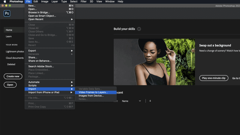 Take Pictures from Video Using PhotoShop