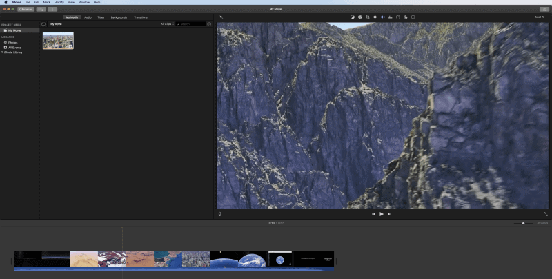 Take Pictures from Video Using iMovie on Mac
