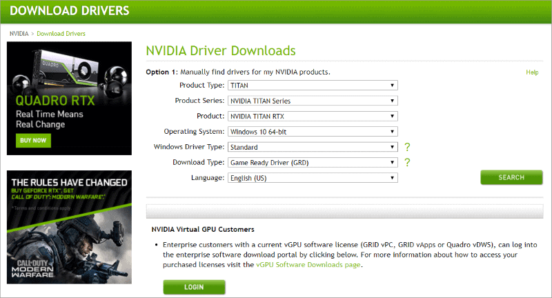 Download Graphic card Driver