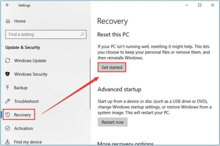 Restore your system to Fix 0x801901f4error