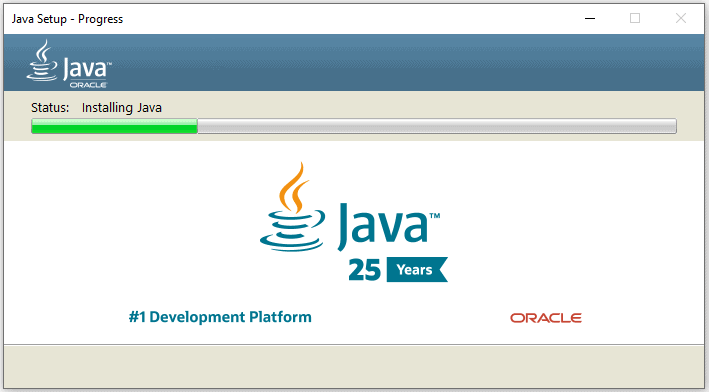 Reinstall Java to fix javaw.exe missing