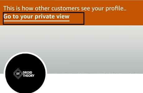Viewing Amazon Profile with Public view using Amazon app