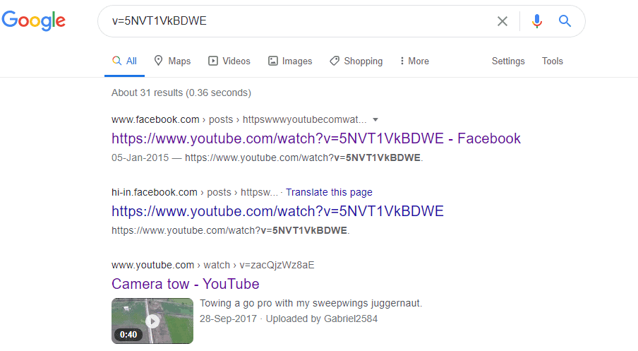 how to watch deleted YouTube videos via Google Search Operators