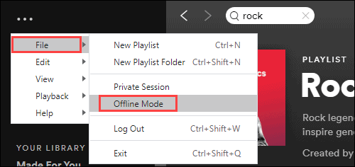 can you listen to Spotify on a plane via Offline Mode