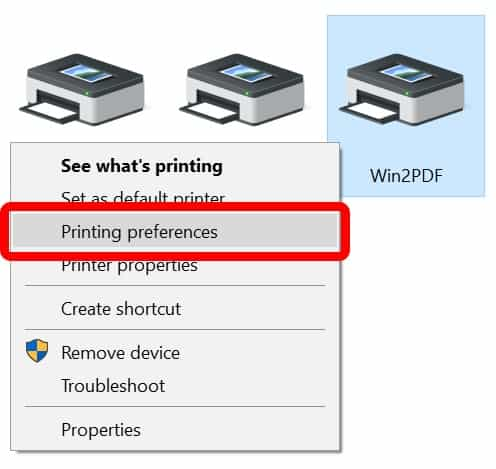 Change Printer settings to How to fix PCL XL error