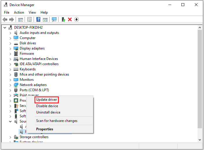 Update driver to fix Logitech Speakers Not Working on Windows 10