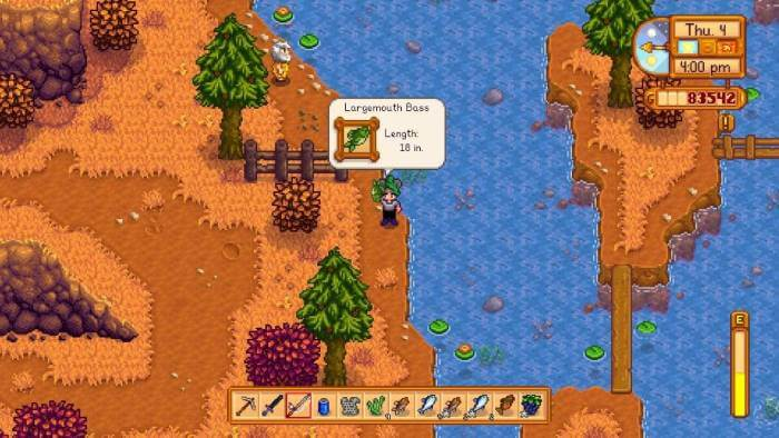 How to catch a Stardew Valley largemouth bass
