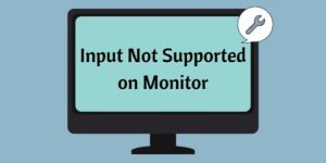 Input Not Supported on Monitor