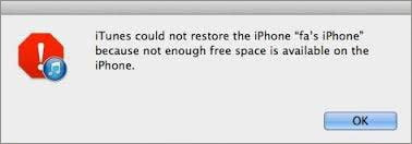 not-enough-space-to-restore-iphone