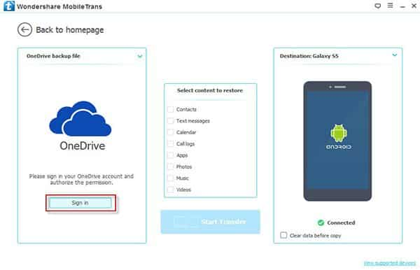 Copy Contacts from OneDrive to Android Phone